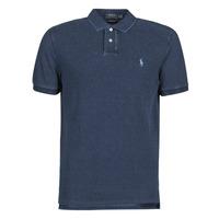 Textil Muži Polo s krátkými rukávy Polo Ralph Lauren POLO AJUSTE DROIT EN COTON BASIC Modrá