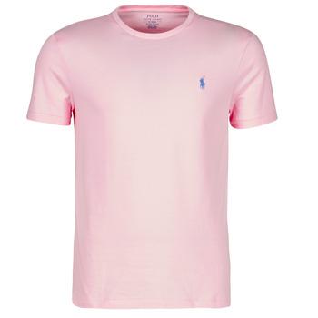 Textil Muži Trička s krátkým rukávem Polo Ralph Lauren T-SHIRT AJUSTE COL ROND EN COTON LOGO PONY PLAYER Růžová
