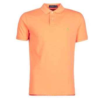 Textil Muži Polo s krátkými rukávy Polo Ralph Lauren POLO AJUSTE DROIT EN COTON BASIC MESH LOGO PONY PLAYER Oranžová