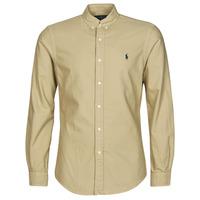 Textil Muži Košile s dlouhymi rukávy Polo Ralph Lauren CHEMISE CINTREE SLIM FIT EN OXFORD LEGER TYPE CHINO COL BOUTONNE Béžová