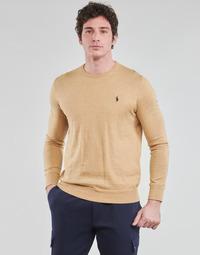Textil Muži Svetry Polo Ralph Lauren PULL COL ROND AJUSTE EN COTON PIMA LOGO PONY PLAYER Velbloudí hnědá