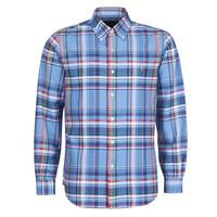 Textil Muži Košile s dlouhymi rukávy Polo Ralph Lauren CHEMISE AJUSTEE EN OXFORD COL BOUTONNE  LOGO PONY PLAYER MULTICO