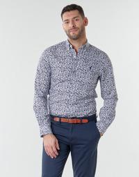 Textil Muži Košile s dlouhymi rukávy Polo Ralph Lauren CHEMISE CINTREE SLIM FIT EN POPLINE DE COTON COL BOUTONNE LOGO P Modrá