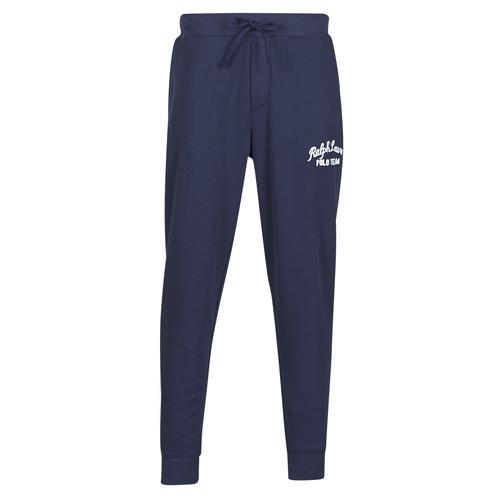 Textil Muži Teplákové kalhoty Polo Ralph Lauren BAS DE JOGGING EN MOLTON POLO RALPH LAUREN SIGNATURE Tmavě modrá