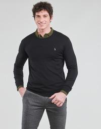 Textil Muži Svetry Polo Ralph Lauren PULL COL ROND AJUSTE EN COTON PIMA LOGO PONY PLAYER Černá