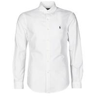Textil Muži Košile s dlouhymi rukávy Polo Ralph Lauren CHEMISE CINTREE SLIM FIT EN OXFORD LEGER TYPE CHINO COL BOUTONNE Bílá