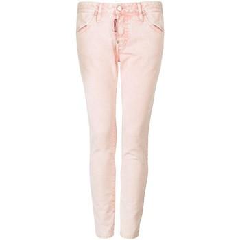 Textil Ženy Kapsáčové kalhoty Dsquared  Růžová