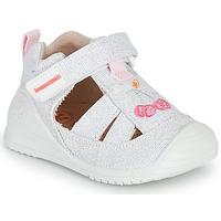 Boty Dívčí Sandály Biomecanics 212213 Stříbrná        / Bílá