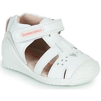 Boty Dívčí Sandály Biomecanics 212104 Bílá / Stříbrná