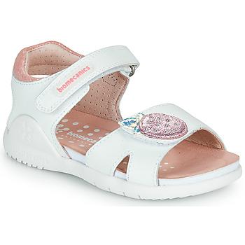 Boty Dívčí Sandály Biomecanics 212163 Bílá / Růžová