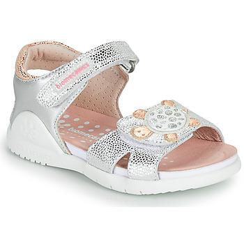 Boty Dívčí Sandály Biomecanics 212172 Stříbrná