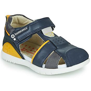 Boty Chlapecké Sandály Biomecanics 212187 Tmavě modrá / Žlutá
