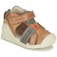 Boty Chlapecké Sandály Biomecanics 212135 Zlatohnědá