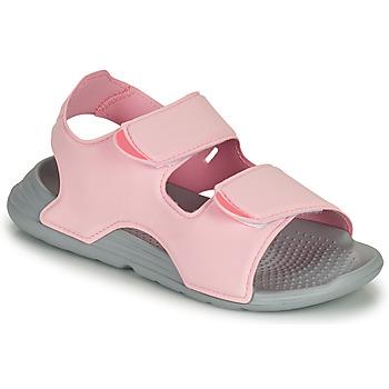 Boty Dívčí Sandály adidas Performance SWIM SANDAL C Růžová