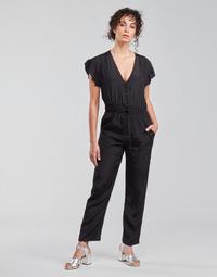 Textil Ženy Overaly / Kalhoty s laclem See U Soon 21191033 Černá