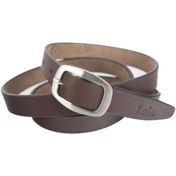 Textilní doplňky Pásky Lois Unisex Leather Brown