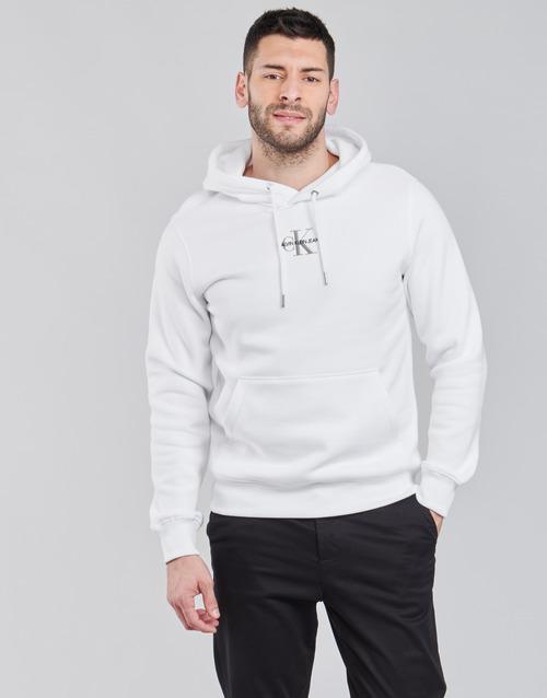 Textil Muži Mikiny Calvin Klein Jeans NEW ICONIC ESSENTIAL HOODIE Bílá