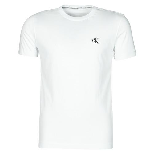 Textil Muži Trička s krátkým rukávem Calvin Klein Jeans YAF Bílá
