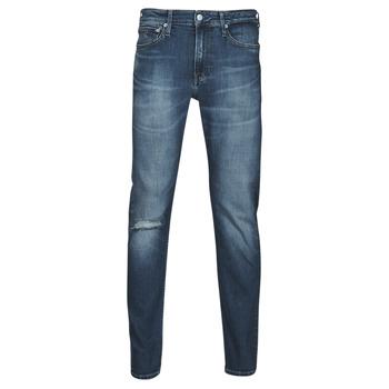 Textil Muži Rifle rovné Calvin Klein Jeans SLIM TAPER Modrá