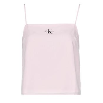 Textil Ženy Halenky / Blůzy Calvin Klein Jeans MONOGRAM CAMI TOP Růžová
