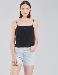 Textil Ženy Halenky / Blůzy Calvin Klein Jeans MONOGRAM CAMI TOP Černá