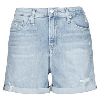 Textil Ženy Kraťasy / Bermudy Calvin Klein Jeans MOM SHORT Modrá / Světlá