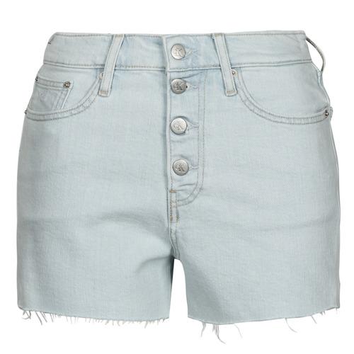 Textil Ženy Kraťasy / Bermudy Calvin Klein Jeans HIGH RISE SHORT Modrá / Světlá