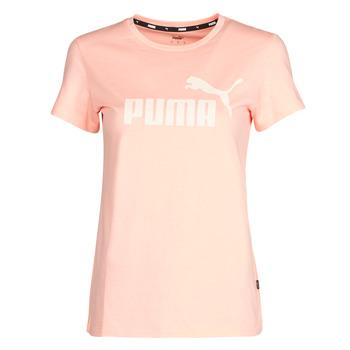 Textil Ženy Trička s krátkým rukávem Puma ESS Logo Tee (s) Meruňková