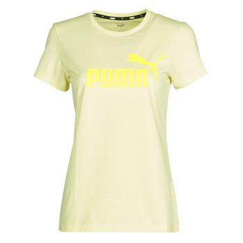 Textil Ženy Trička s krátkým rukávem Puma ESS Logo Tee (s) Žlutá