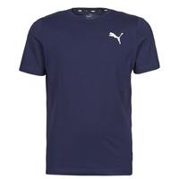 Textil Muži Trička s krátkým rukávem Puma ESS TEE Tmavě modrá