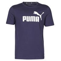 Textil Muži Trička s krátkým rukávem Puma ESSENTIAL TEE Tmavě modrá