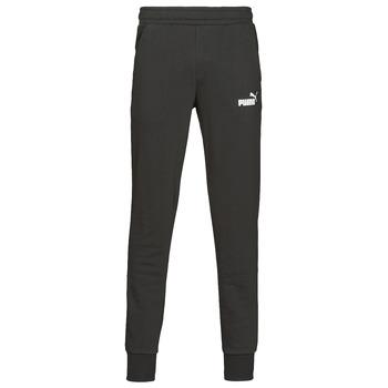Textil Muži Teplákové kalhoty Puma ESS LOGO SLIM PANT LOGO FL CL Černá