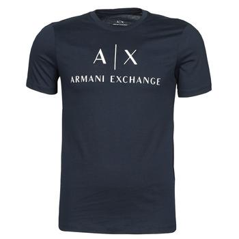Textil Muži Trička s krátkým rukávem Armani Exchange 8NZTCJ-Z8H4Z Tmavě modrá
