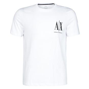 Textil Muži Trička s krátkým rukávem Armani Exchange 8NZTPH-ZJH4Z Bílá