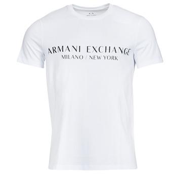 Textil Muži Trička s krátkým rukávem Armani Exchange 8NZT72-Z8H4Z Bílá