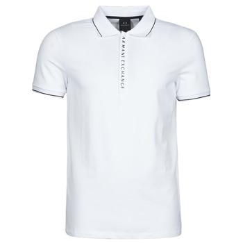 Textil Muži Polo s krátkými rukávy Armani Exchange 8NZF71-ZJH2Z Bílá