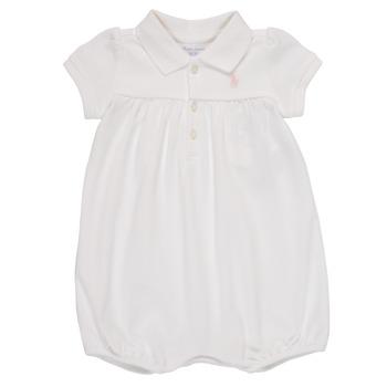 Textil Dívčí Overaly / Kalhoty s laclem Polo Ralph Lauren SIMONE Bílá