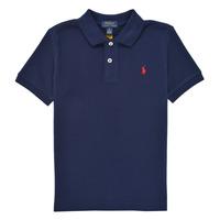 Textil Chlapecké Polo s krátkými rukávy Polo Ralph Lauren TUSSA Tmavě modrá