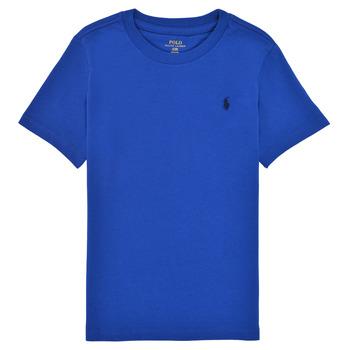 Textil Chlapecké Trička s krátkým rukávem Polo Ralph Lauren ELIVA Modrá / Safírová modrá