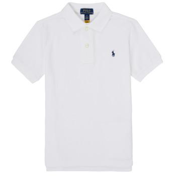 Textil Chlapecké Polo s krátkými rukávy Polo Ralph Lauren MENCHI Bílá