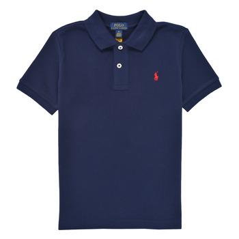 Textil Chlapecké Polo s krátkými rukávy Polo Ralph Lauren MENCHI Tmavě modrá