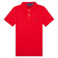Textil Dívčí Polo s krátkými rukávy Polo Ralph Lauren FRANCHI Červená