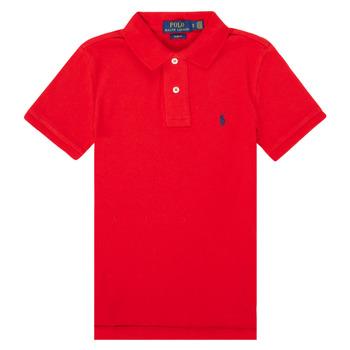Textil Chlapecké Polo s krátkými rukávy Polo Ralph Lauren FRANCHI Červená