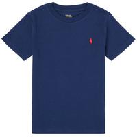 Textil Chlapecké Trička s krátkým rukávem Polo Ralph Lauren TINNA Tmavě modrá