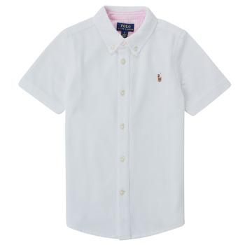 Textil Chlapecké Košile s krátkými rukávy Polo Ralph Lauren CAMISSA Bílá