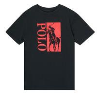 Textil Chlapecké Trička s krátkým rukávem Polo Ralph Lauren CROPI Černá