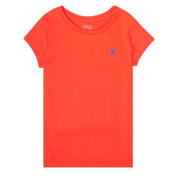 Textil Dívčí Trička s krátkým rukávem Polo Ralph Lauren SIDONIE Červená