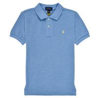 Textil Chlapecké Polo s krátkými rukávy Polo Ralph Lauren BLEUNI Modrá