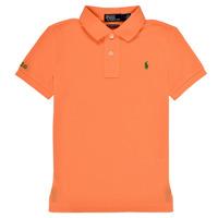 Textil Chlapecké Polo s krátkými rukávy Polo Ralph Lauren POLLIE Oranžová