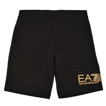 Textil Chlapecké Kraťasy / Bermudy Emporio Armani EA7 3KBS53-BJ05Z-1200 Černá / Zlatá
